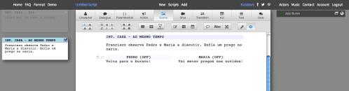 WriterDuet – novo software de escrita online