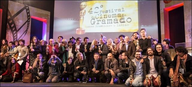 Roteiros premiados nos Kikitos do Festival de Gramado