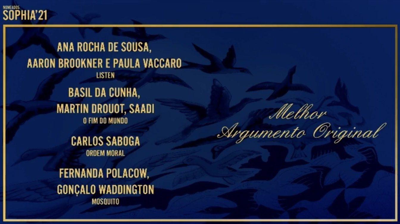 A Academia Portuguesa de Cinema anunciou os nomeados para os Prémios Sophia