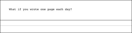 Uma página por dia