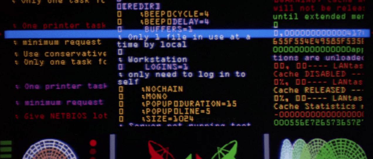 Código de computador em filmes